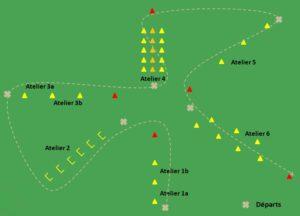 circuit training football aérobie sans ballons