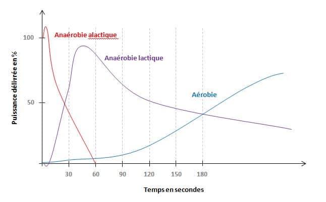 courbes d'Howald aérobie anaérobie