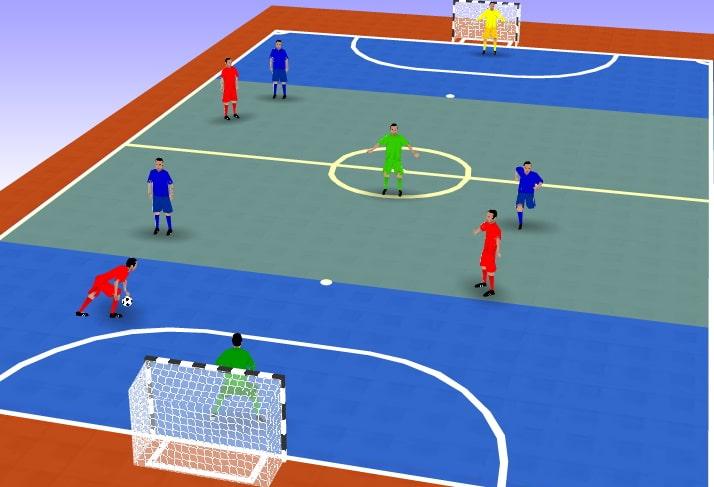 entrainement futsal match