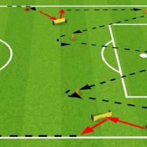 Travail d'endurance au football avec ballon