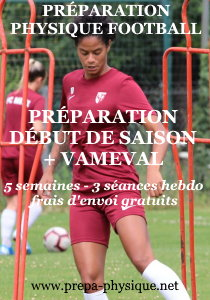 preparation physique football féminin cd vameval