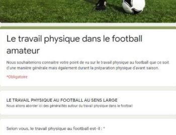 resultat questionnaire physique foot