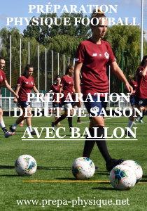 preparation physique football feminin avec ballon
