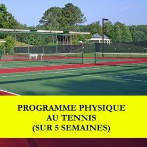 Programme physique au tennis