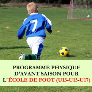 Programme début de saison école de football