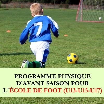 PROGRAMME physique ecole de foot