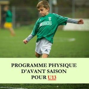 Programme début de saison u13