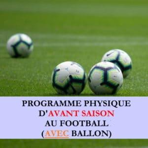 Programme début de saison avec ballon