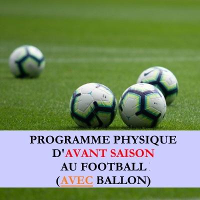 Programme de debut saison avec ballon