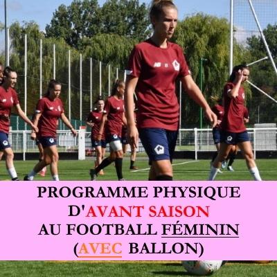 Programme debut saison au football féminin AVEC ballon
