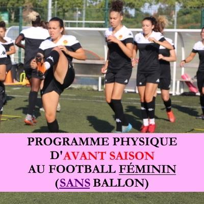 Programme debut saison au football féminin sans ballon