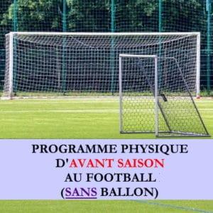 Programme début de saison sans ballon