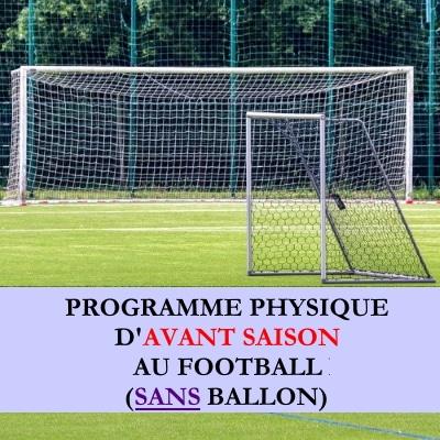 Programme debut saison football sans ballon