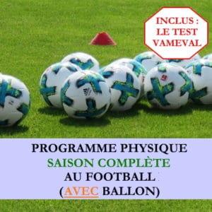 Programme saison complète avec ballon et Vameval