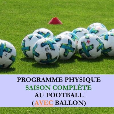 Programme saison complete football avec ballon