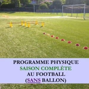 Programme saison complète sans ballon