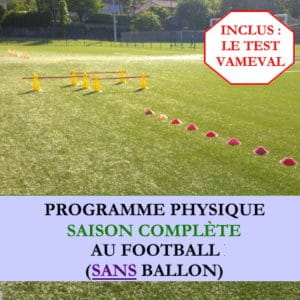 Programme saison complète sans ballon et avec Vameval