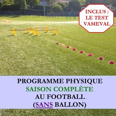 Programme saison complete football sans ballon avec vameval