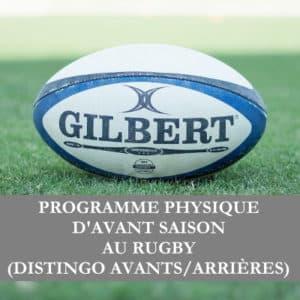 Programme rugby début de saison