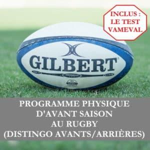 Programme rugby début de saison avec Vameval